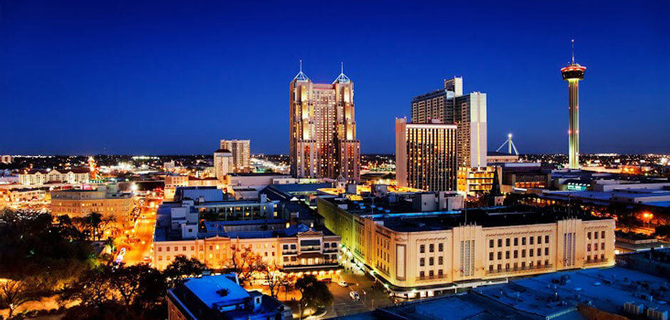 Night City Buildings - USVA Realty San Antonio